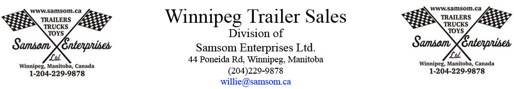 Samsom Enterprises, Winnipeg Trailer Sales Logo